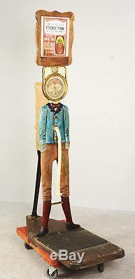 1904 Caille Bros. Mickey Finn Tug-O-War Coin-Op Penny Arcade Strength Tester