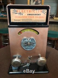 1920's ADVANCED Electricity Shock Machine Arcade Game Watch Video