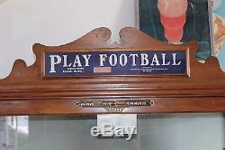 1926 CHESTER POLLARD PLAY FOOTBALL Coin-Op Machine Arcade Game Vintage 5c