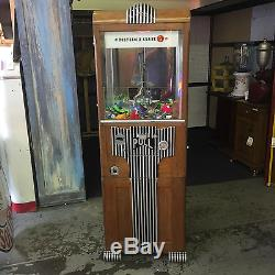 1930s Art Deco 5 Cent Novelty Merchantman Prize Crane Coin-Op Claw Machine