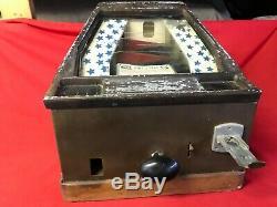 1933 Groetchen Pikes Peak Trade Simulator Coin Op Arcade Game Gum Ball Machine