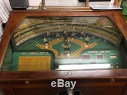 1937 Rockola World Series Baseball Arcade Pinball Machine, All Original Rock Ola