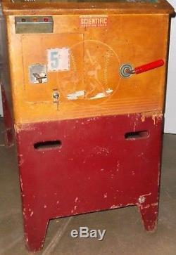 1948 Scientific Pitchem & Batem P&B Baseball Arcade Machine VERY COOL STYLE