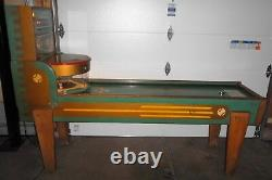 1950 Williams Double Header Shuffle Alley Baseball Machine withPop DOWN Runners