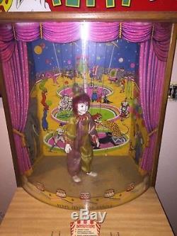 1950's Peppy The Clown Vintage Coin Op Carnival Arcade Machine Nice Working Look