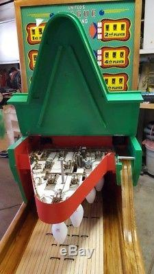 1959 United League Big Ball Bowler Bowling Machine 16' Arcade Restored