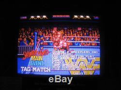 1991 Techno's WWF Wrestlefest 2 Player Standup Arcade Machine Game Wrestling