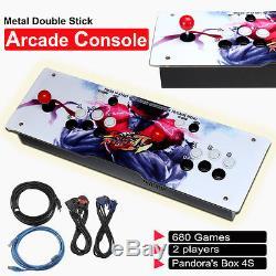 2017 Metal Doublestick Arcade Console Machine 680 Game 2 Players Pandora's Box