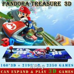 2350 Games Pandora Treasure 3D Arcade Console Machine Retro Video Games HD Mario