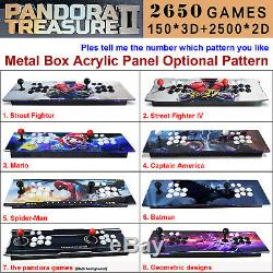 2650 Games Pandora Treasure II 3D Double Stick Retro Game Arcade Console Machine