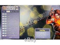 2650 Games Pandora Treasure II 3D Separable Arcade Console Machine Double sticks