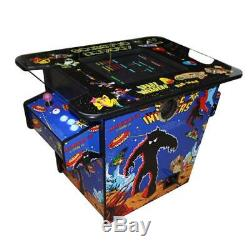 2 Sides to 2 Players Arcade Cocktail Table Game Machine Console Tabletop 60 in 1
