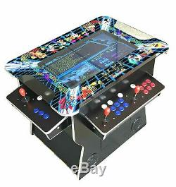 4 PLAYER Cocktail Arcade Machine 2475 Classic Games 160LB commercial grad