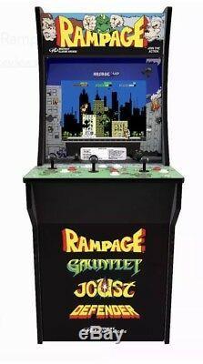 ARCADE1UP RAMPAGE, GAUNTLET, JOUST, DEFENDER 4ft ARCADE MACHINE 4 GAMES IN 1