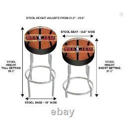 Arcade1Up NBA Jam Tournament Edition Arcade Cabinet Machine with Riser & Stool