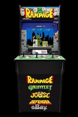 Arcade1Up Rampage Machine + Gauntlet + Joust + Defender Machine 17 LCD Cabinet