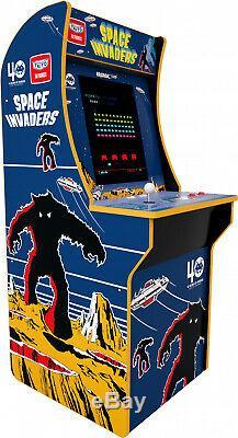 Arcade1Up Space Invaders 4 ft Vintage Video Arcade Machine Game Room 17 LCD