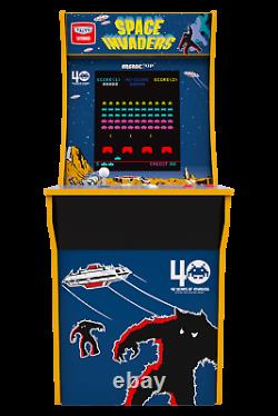 Arcade1Up Space Invaders 4ft Vintage Video Arcade 1up Machine Game Room 17 LCD
