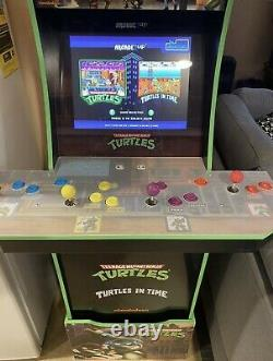 Arcade1Up Teenage Mutant Ninja Turtles Arcade Cabinet Machine with Riser
