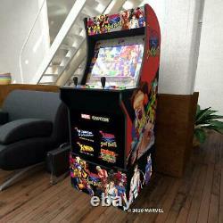 Arcade1Up X-Men VS Street Fighter Video Arcade Game Machine with Riser NEW