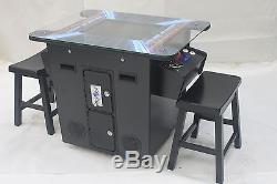 Arcade Cocktail sitdown Multi game in 1 unit Machine Black cabinet