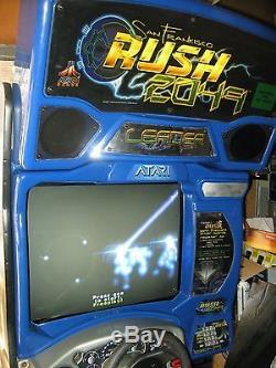 Atari Midway San Francisco Rush 2049 Arcade machine sit down driver game room