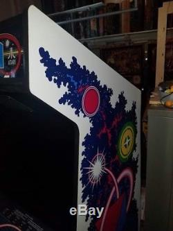 Atari Quantum Arcade Machine with rebuilt burn free 6100 vector monitor rare