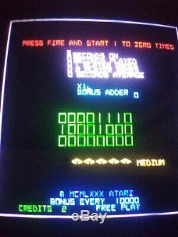 Atari TEMPEST upright color XY vector graphic video arcade machine