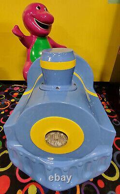 Barney the Dinosaur Mechanical Train Kiddie Ride Arcade Game Simulator Machine