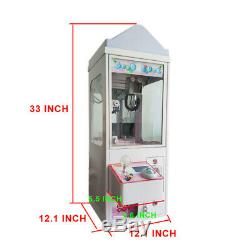 Candy catcher machine coin operated plush toys claw crane machine with LED top