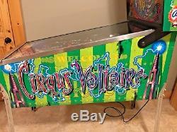 Cirqus Voltaire Pinball Machine Bally Coin Op Arcade Game