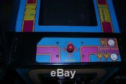 Classic 1982 Ms. Pac Man arcade machine plus 2 extra monitors