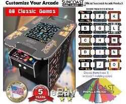 Cocktail Arcade Machine-60 Retro Games- Pac-Man, Galaga, Free Side Graphics