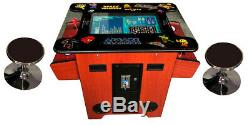 Cocktail Arcade Machine TRACK BALL 412 Classic Games Cherry Wood Commercial
