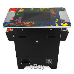 Cocktail Arcade Machine With 60 Classic Games Console Tempered Glass HOT