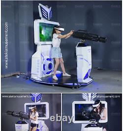 Commercial Virtual Reality Machine Shooting Gun 9D Simulator VR Arcade SEE VIDEO