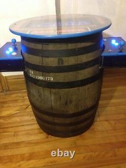Donkey Kong Cocktail Arcade Machine Real Whiskey Barrel 60 Arcade Classics