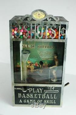Ee Jr 3 Shots For A Penny Basketball Game Gumball Machine Works And Complete