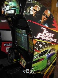 Fast & Furious racing driving arcade video game cabinet machine working ohio