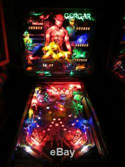 GORGAR Arcade Pinball Machine by Williams 1979 (Custom LED)