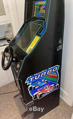 Genuine 1981 SEGA TURBO ARCADE MACHINE Race Car Coin Operated