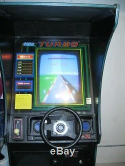 Genuine SEGA TURBO ARCADE MACHINE Race Car Coin op 25c Man Cave RARE Illinois