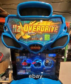 H2O Overdrive Boat Racing Arcade Driving Video Game Machine WORKS GREAT! 32 LCD