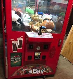 ICE Games Pinnacle Arcade Claw Machine Game WORKS 100% Dollar Bills or Quarters