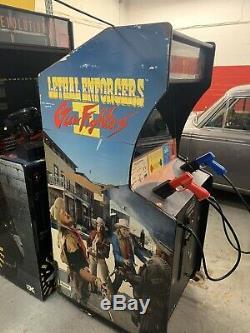 Konami Lethal Enforcers II Gun Game Video Arcade Machine