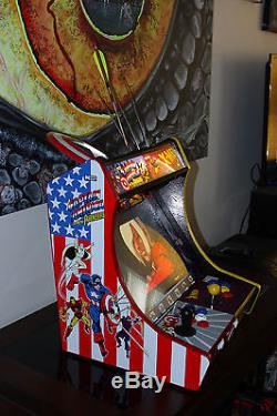 MARVEL bartop tabletop ARCADE machine cabinet AVENGERS GALAGA PAC MAN Xmen