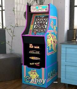 MS PACMAN ARCADE MACHINE with Riser, Arcade1Up