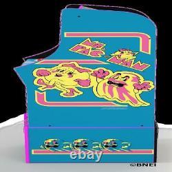 MS PACMAN ARCADE MACHINE with Riser Retro Arcade Cabinet Nostalgia New 4 Games