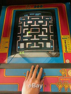 Midway Upright Ms Pacman Arcade Machine Cabinet Video Game Vintage Ms Pac Man