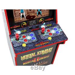 Mortal Kombat Arcade Cabinet Machine with Riser Arcade1UP Mortal Kombat 1, 2, 3